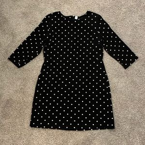 Fitted sheath dress (polka dot)